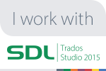 SDL web I work with Trados badge 150x100